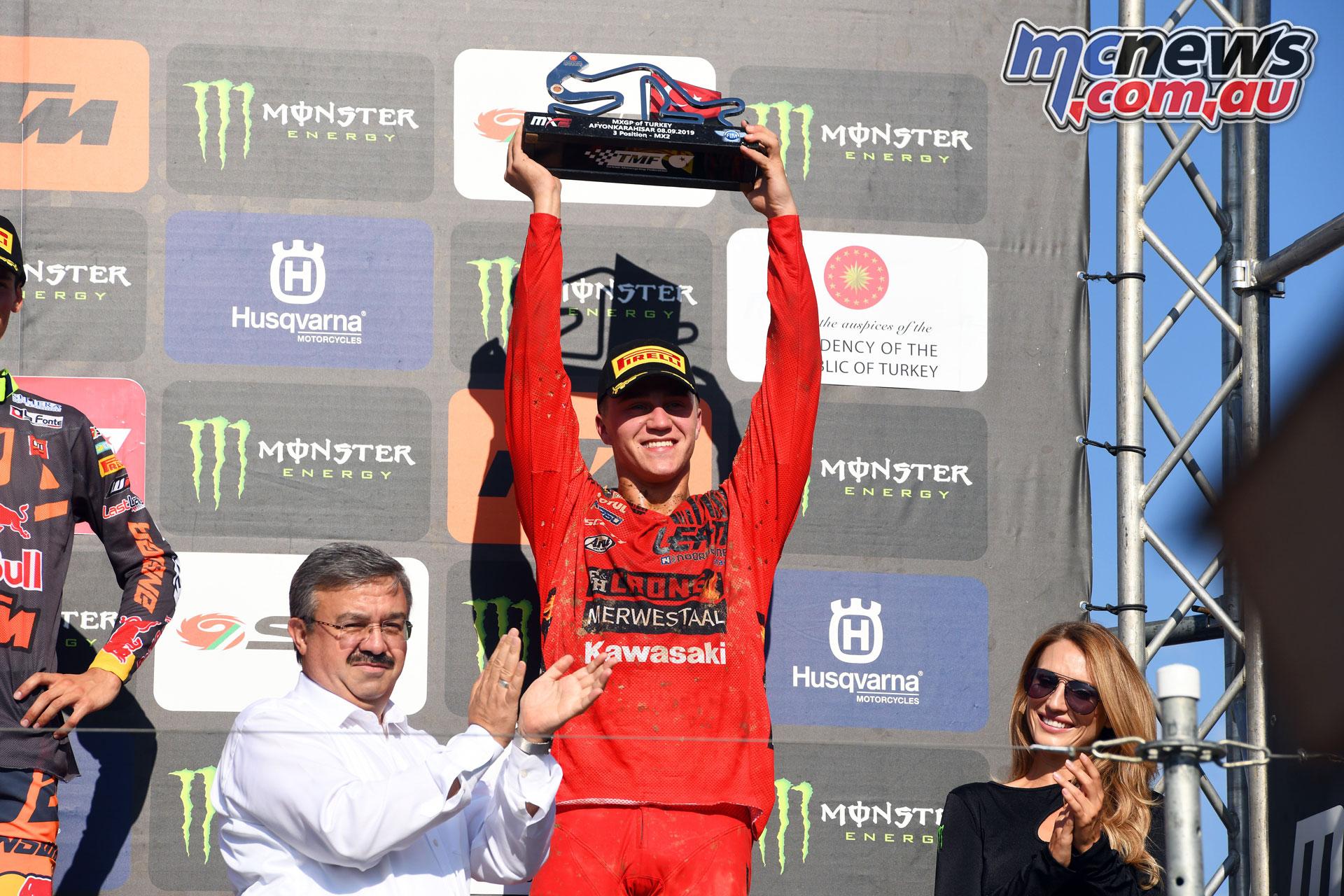 MXGP Rnd Turkey MX VanDeMoosdijk podium