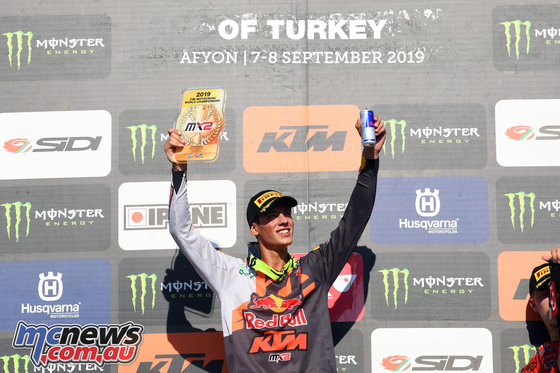 MXGP Rnd Turkey Jorge Prado podium
