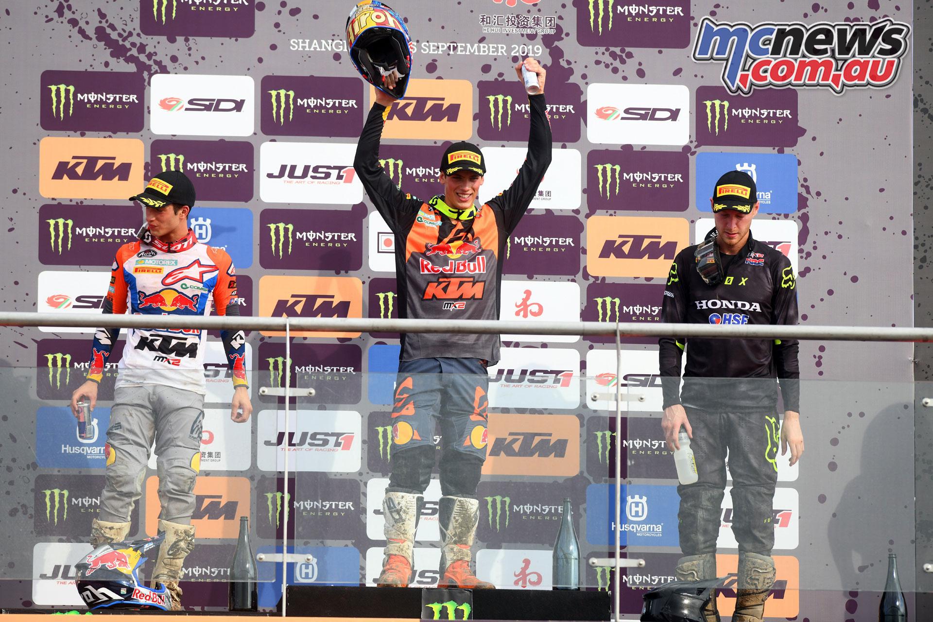 MXGP Rnd China Shanghai MX Prado podium