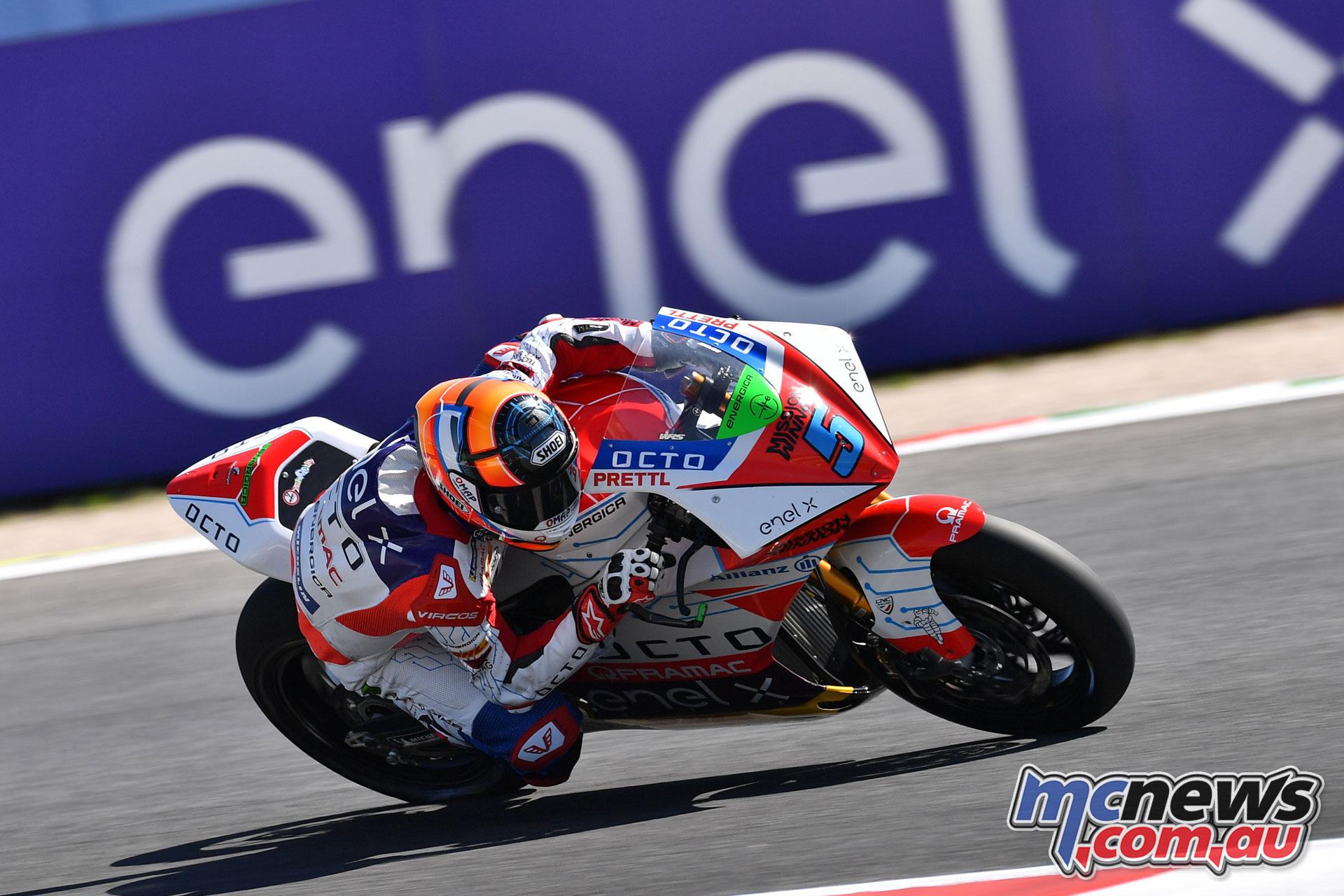 MotoGP Rnd Misano Fri MotoE Alex De Angelis