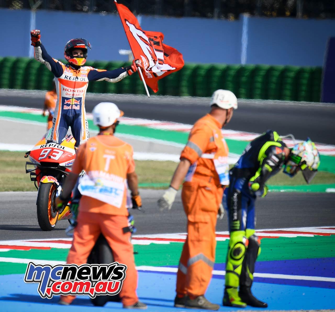 MotoGP Rnd Misano Marquez Flag