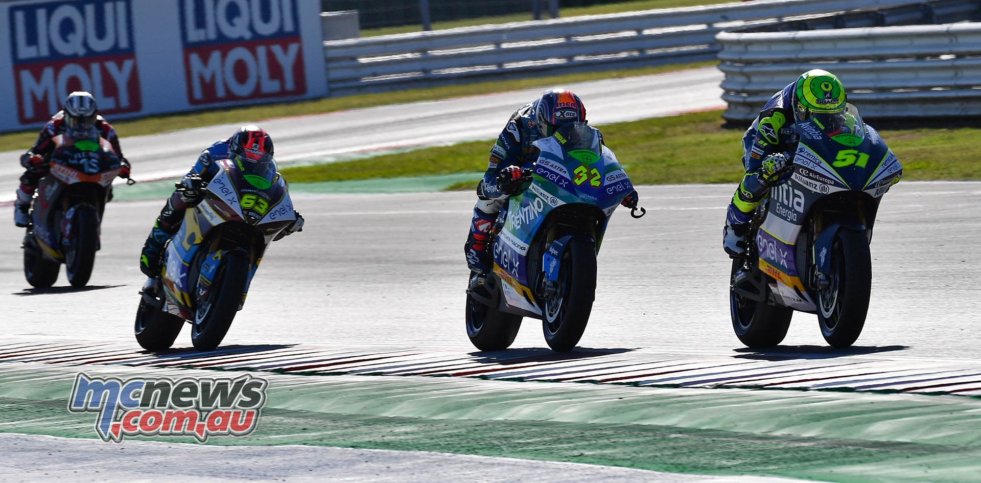 MotoGP Rnd Misano MotoE MotoE Race Granado Savadori DiMeglio Gibernau