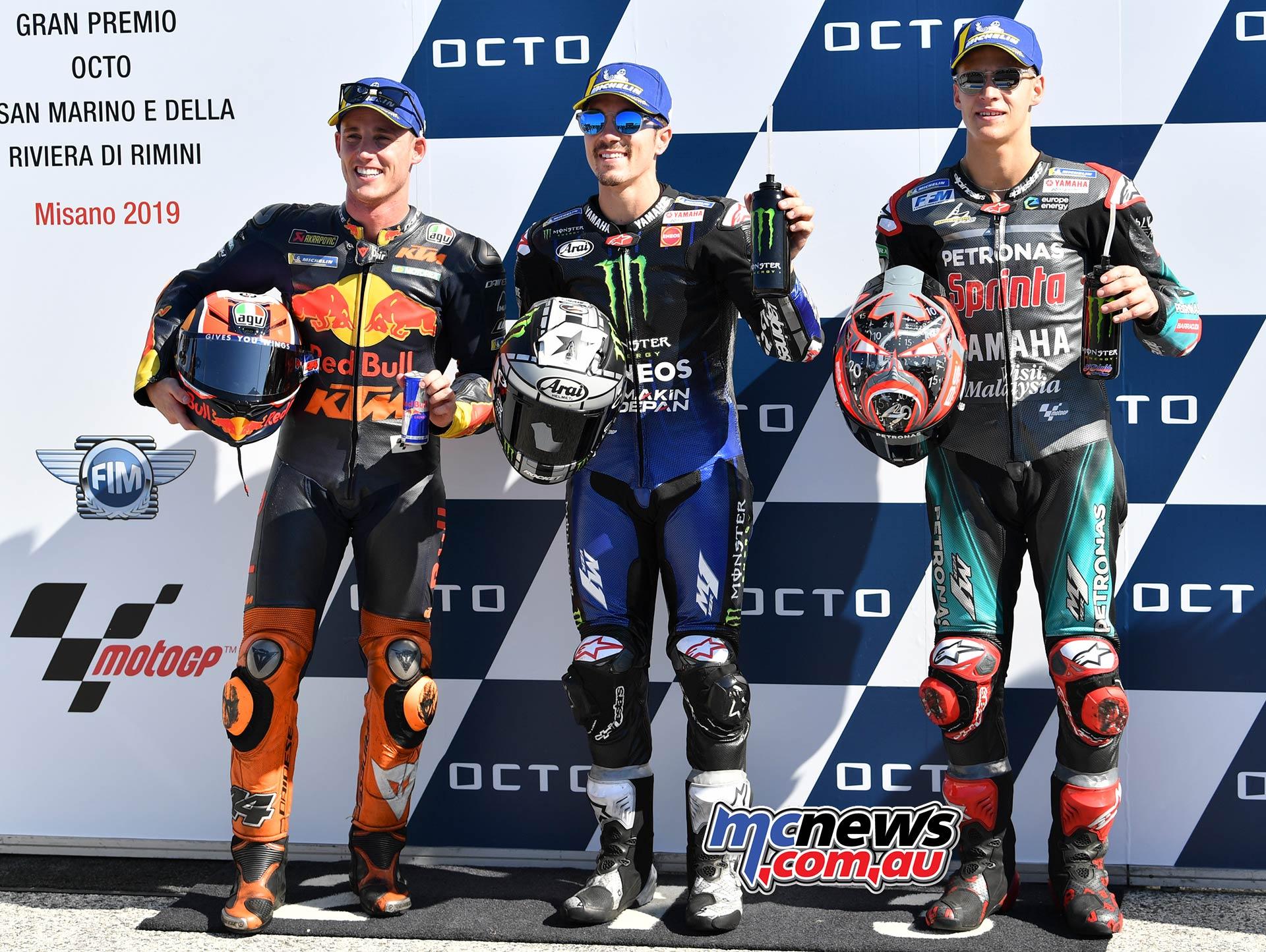 MotoGP Rnd Misano QP MotoGP Pole Espargaro Viñales Quartararo