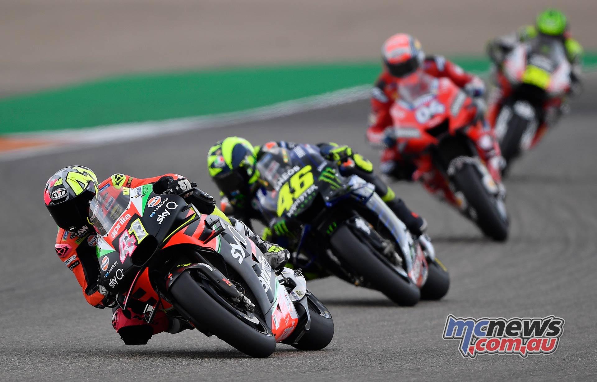 MotoGP Rnd Aragon Aleix Espargaro Rossi Dovizioso