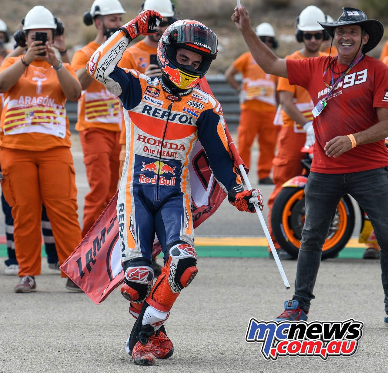 MotoGP Rnd Aragon Marquez Celebrate