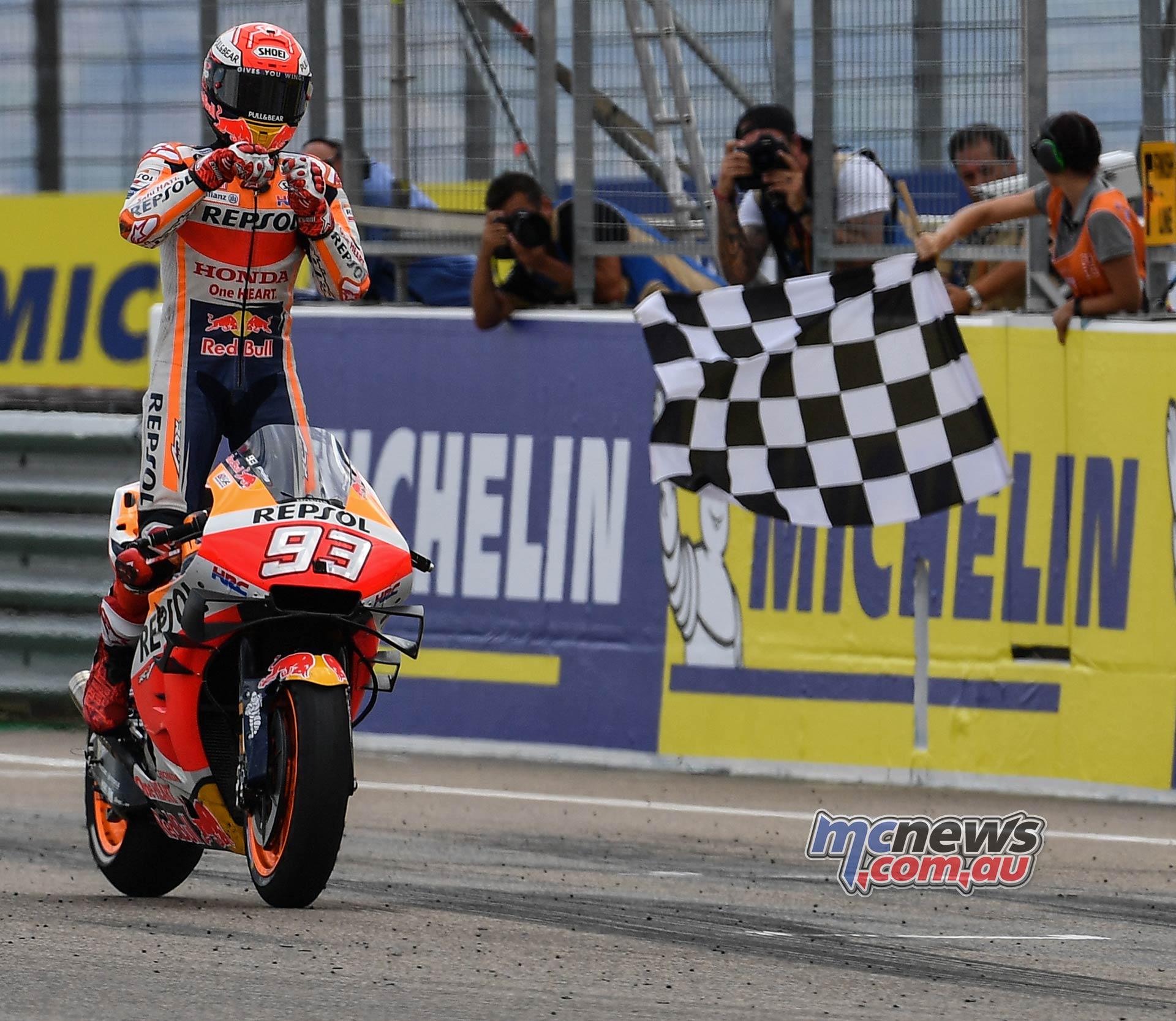 MotoGP Rnd Aragon Marquez wins