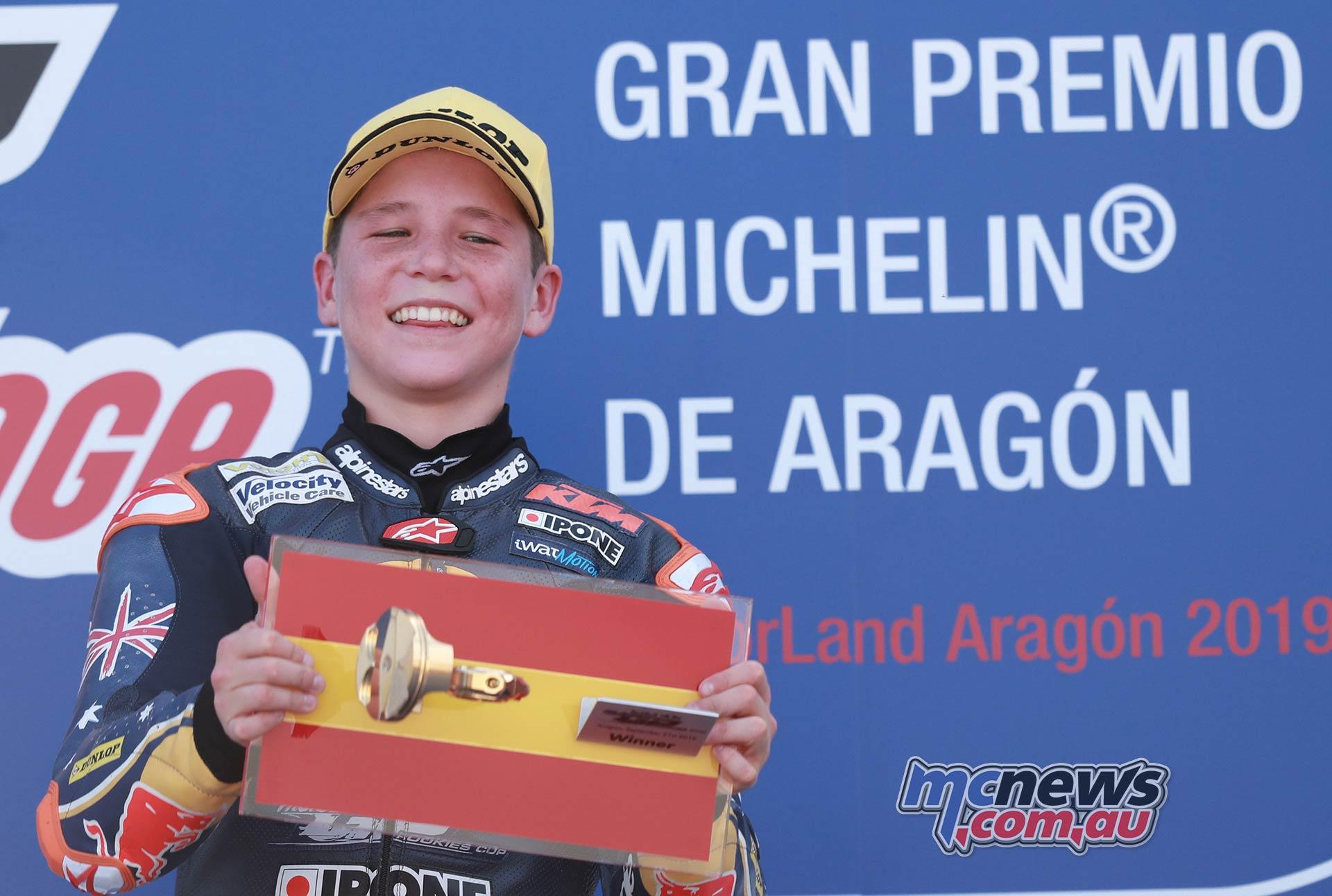 Red Bull Rookies Cup Aragon Billy Van Eerde