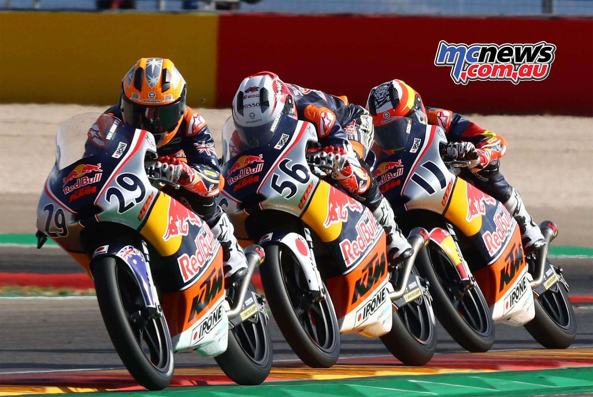 Red Bull Rookies Cup Aragon Billy Van Eerde Noguchi Escrig