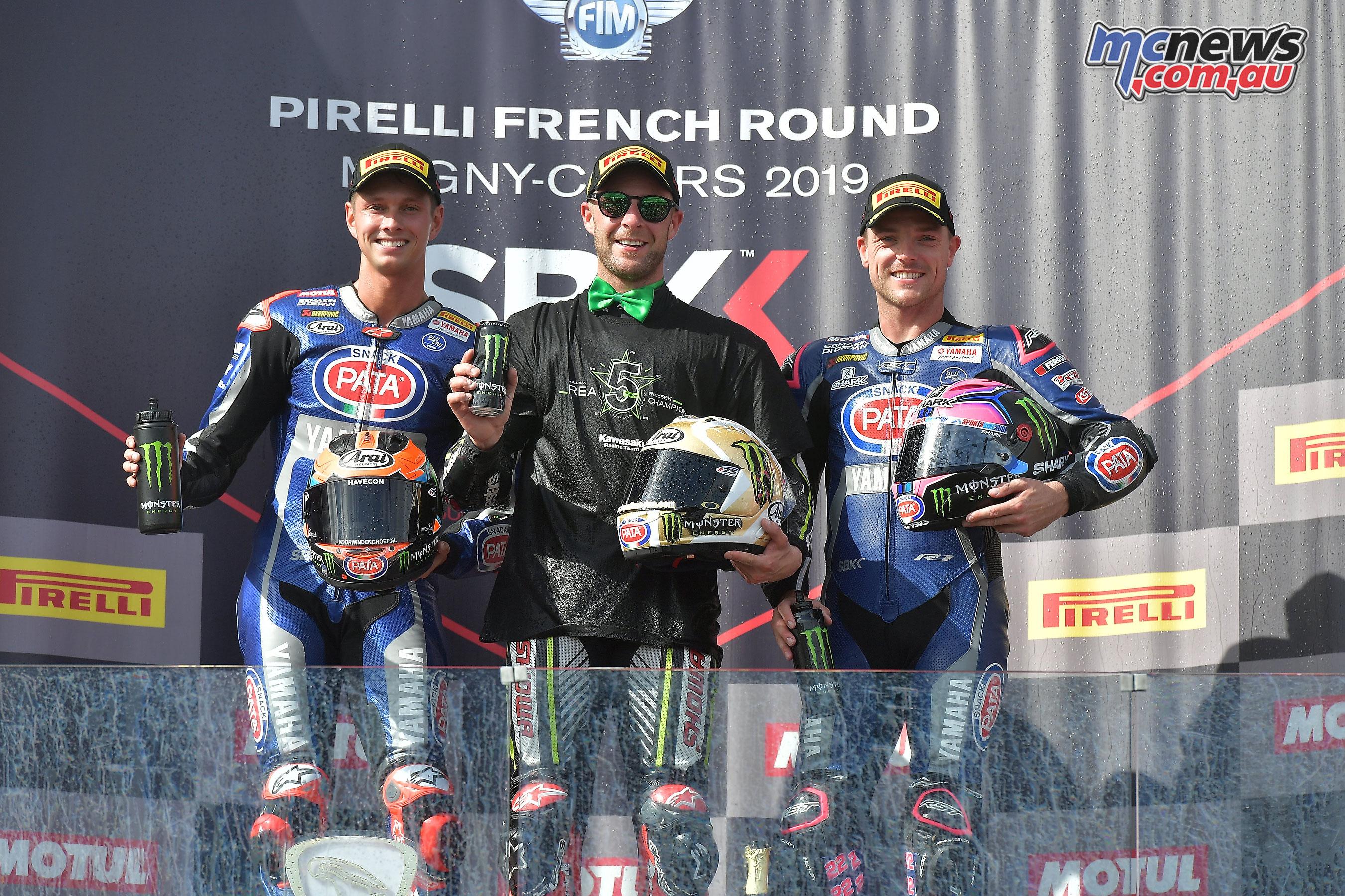 WSBK Rnd France Magny Cours Sun WorldSBK Race podium
