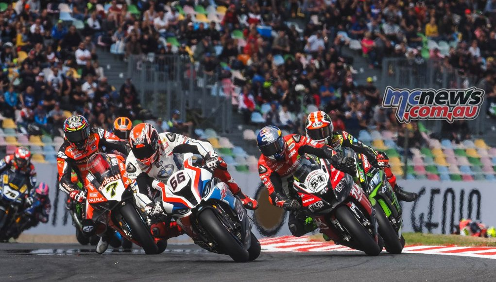 WSBK Rnd Magny Cours WorldSBK Saturday Race Action Sykes