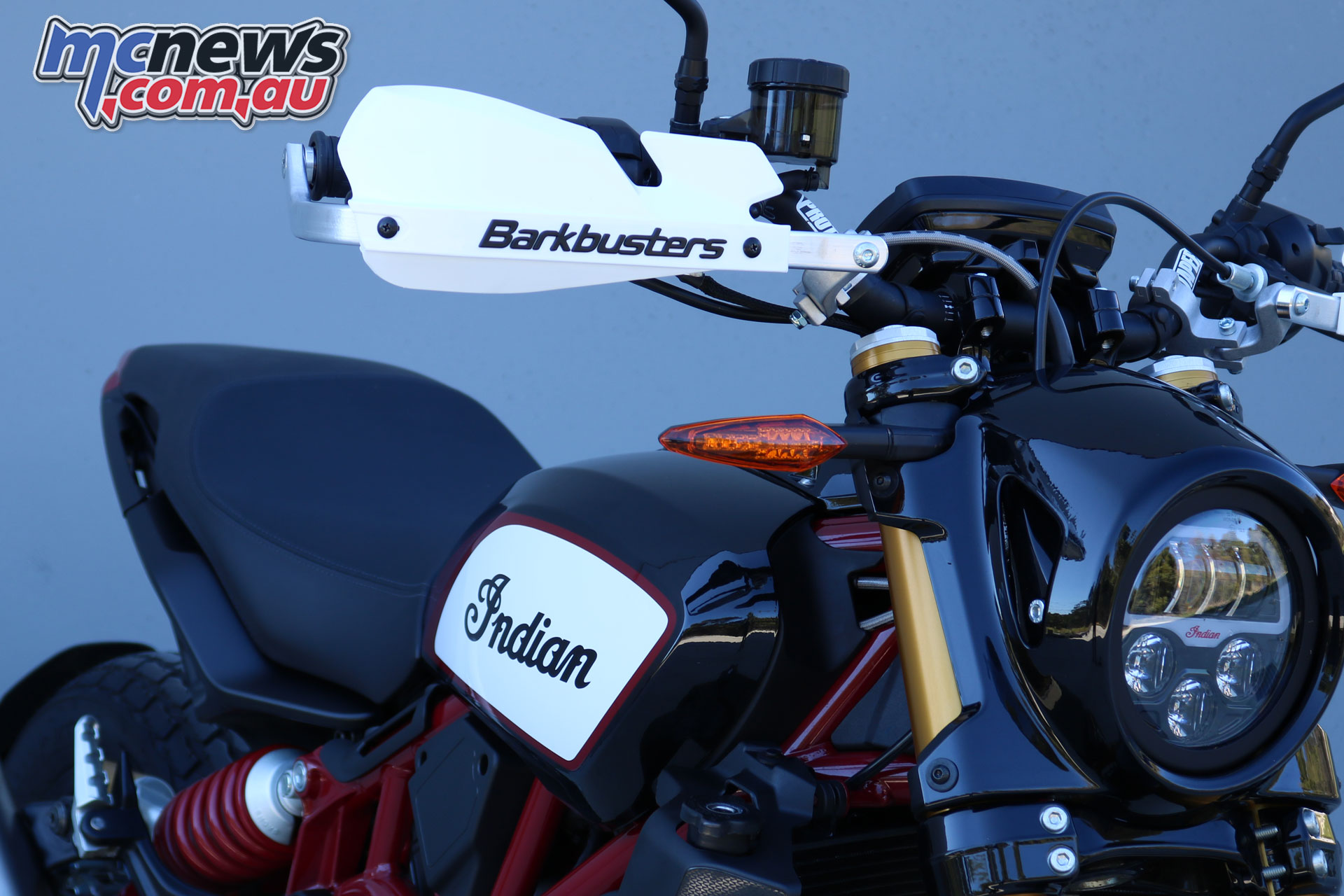 Barkbusters Indian FTR fitted with BHG VPS