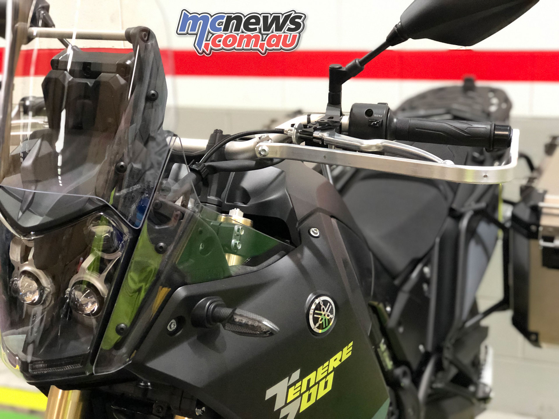 Barkbusters Yamaha Tenere T fitted with BHG hardware