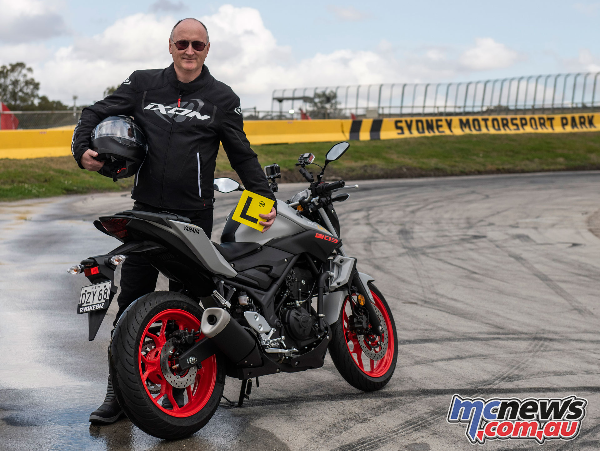 FCAI CEO Tony Weber is learning to ride a motorcycle
