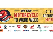 Ride Your Motorcycle to Work Week is supported by the Australian motorcycle industry
