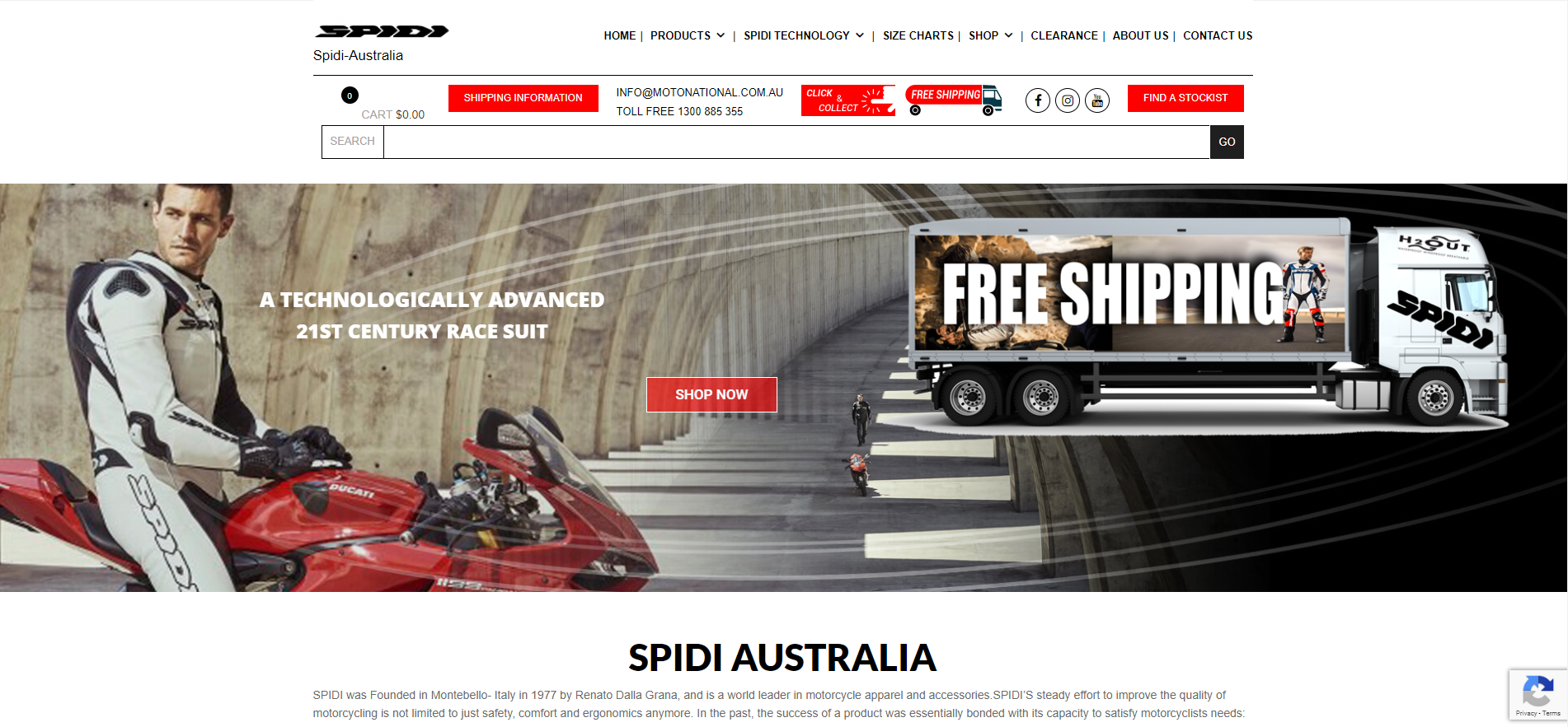 Spidi website