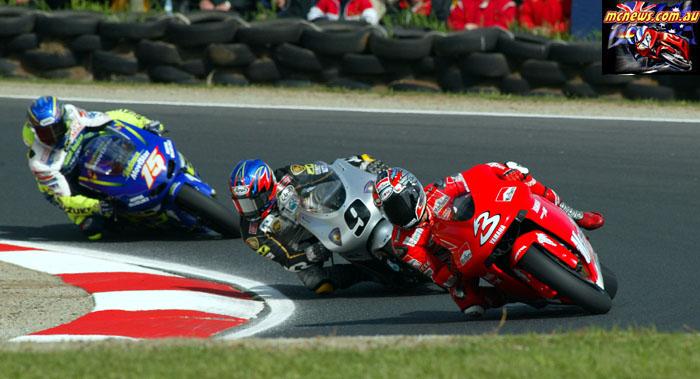 Austrlaian Grand Prix Biaggi Aoki Gibernau