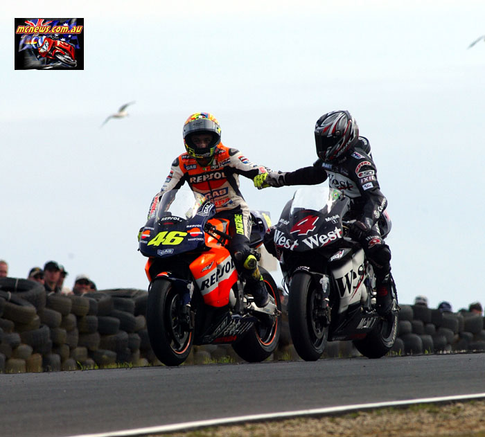 Austrlaian Grand Prix Rossi Barros Shake