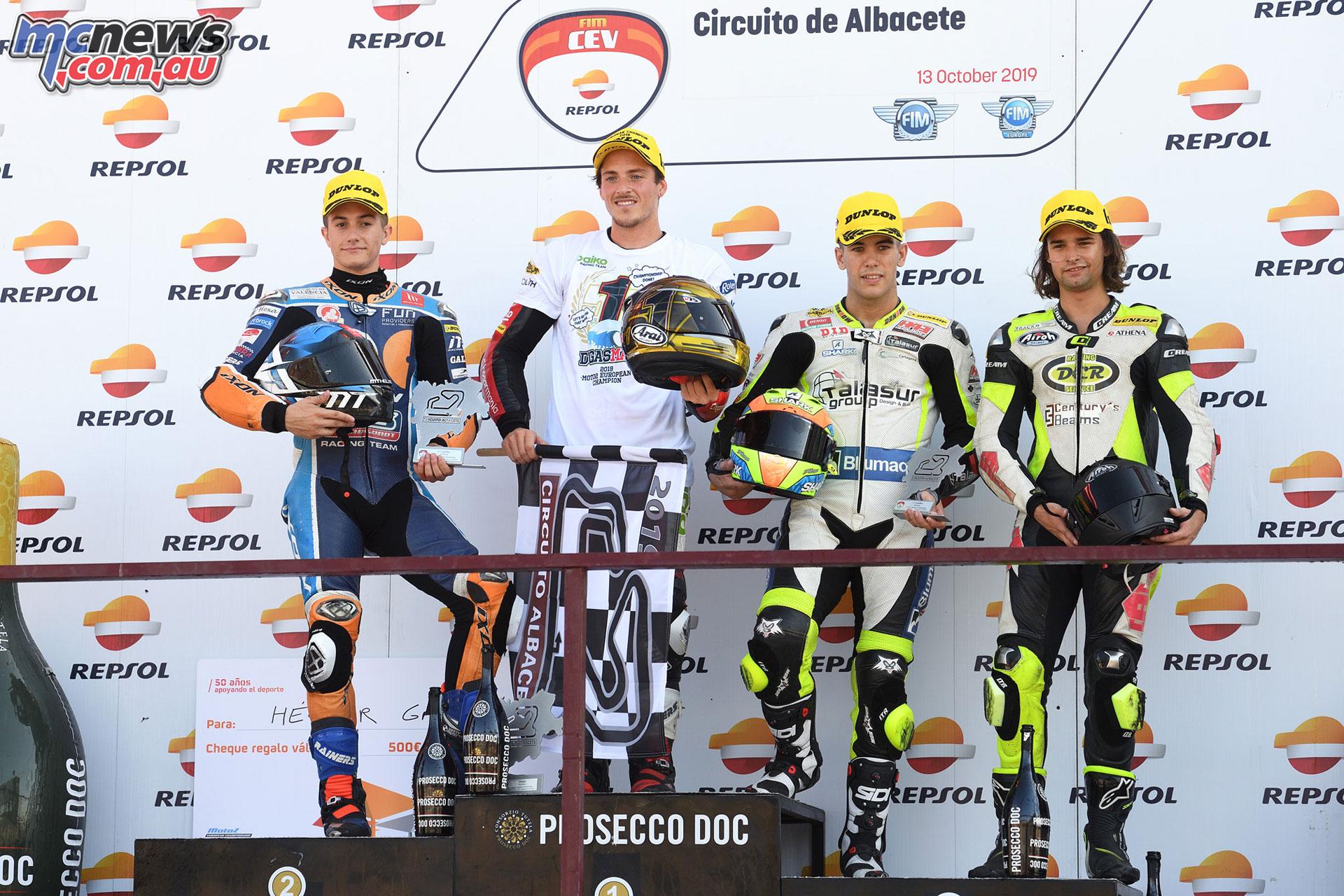 FIM CEV Repsol Rnd Albacete Podium Moto Race