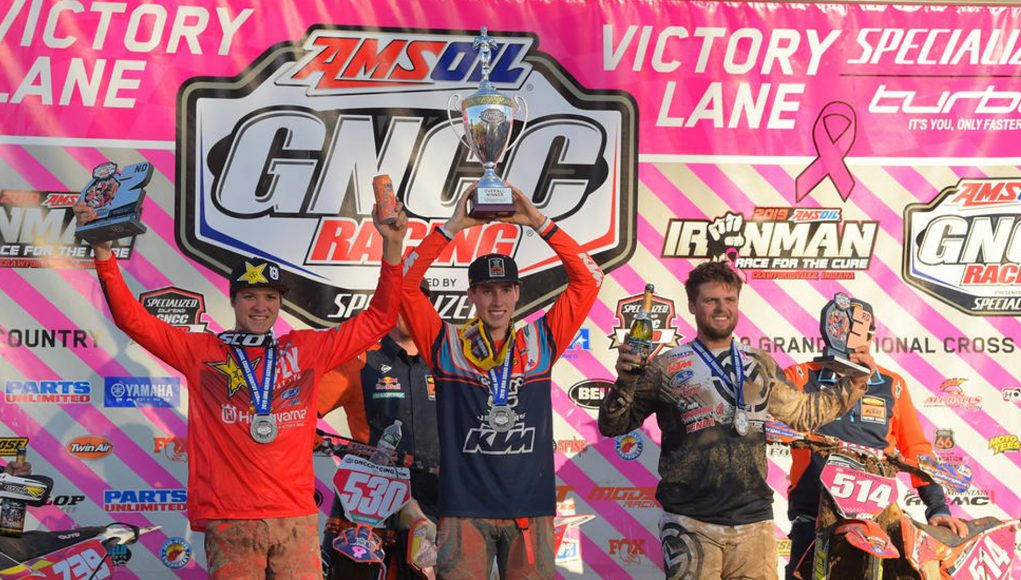 GNCC Ironman Trevor Bollinger Ben Kelley Steward Baylor Jr Podium KH Cov