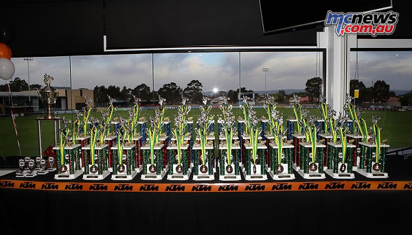 KTM Australian Junior Motocross Championships Trophies