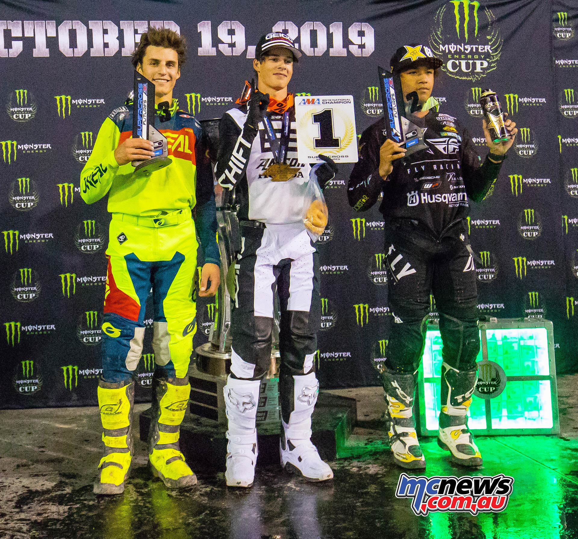 Monster Energy Cup Futures Podium Lawrence Wins JK MEC