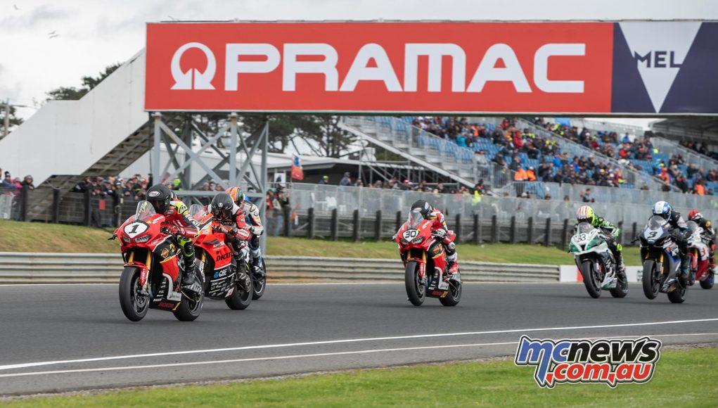 MotoGP Australia Phillip Island RbMotoLens ASBK Race Start Herfoss Leads