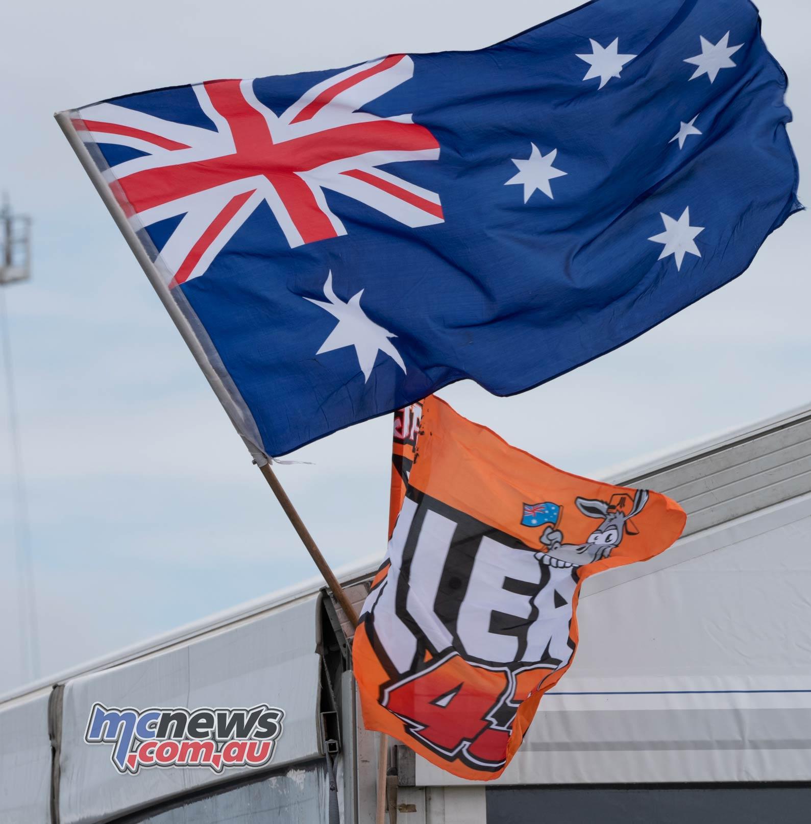 MotoGP Australia Phillip Island RbMotoLens Aus Jack Flags
