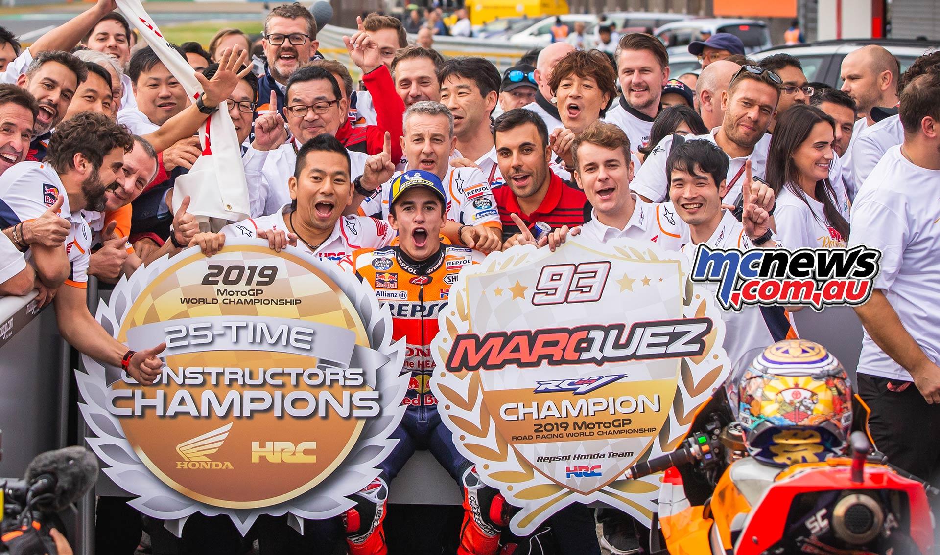 MotoGP Motegi Honda Marquez Celebrate