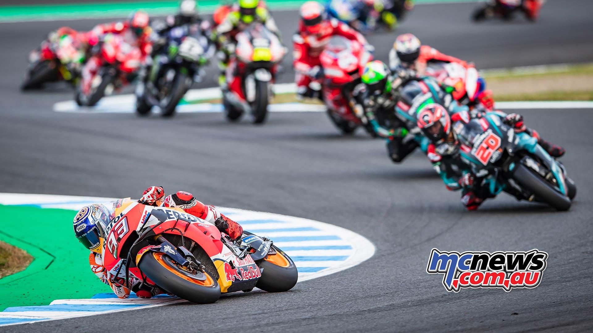 MotoGP Motegi Honda Marquez Leads