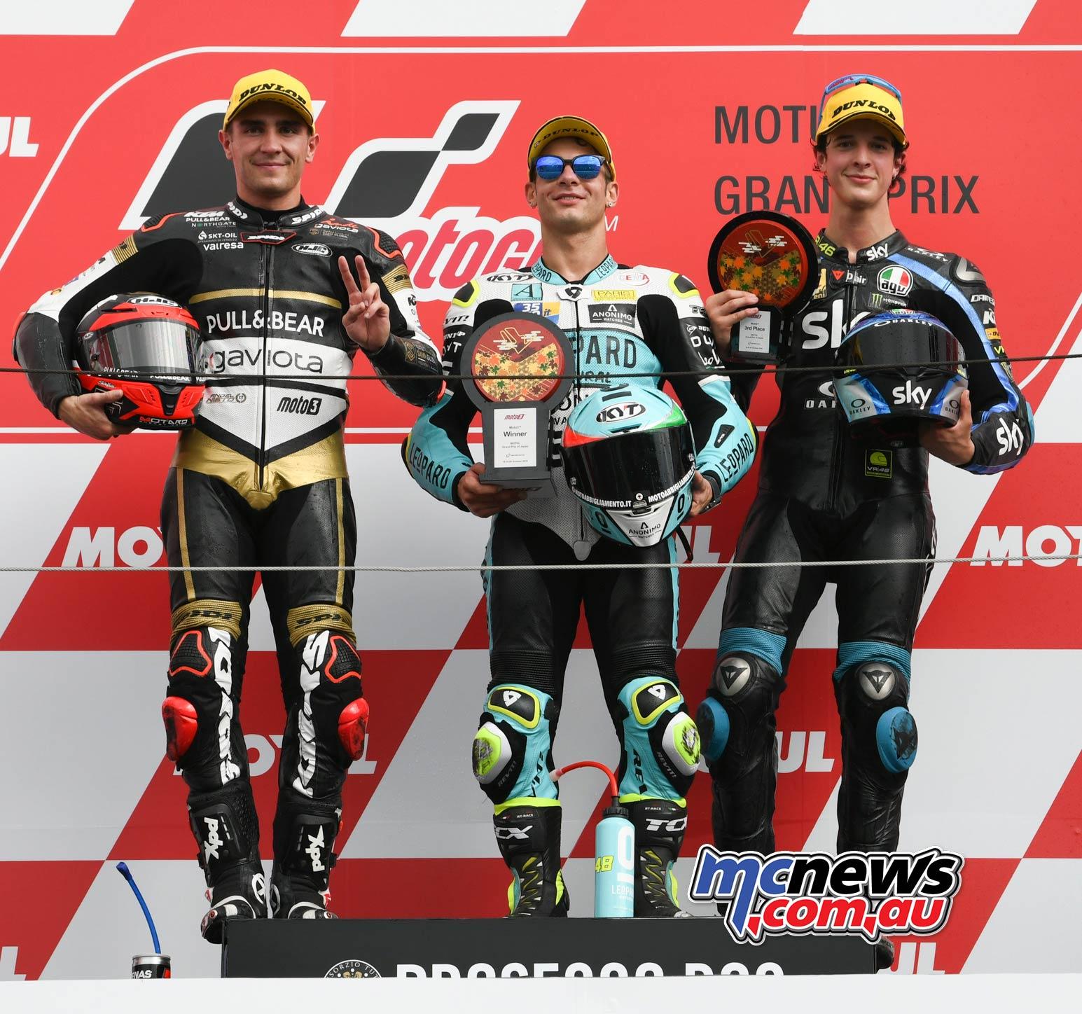 MotoGP Motegi Race Moto DallaPorta Podium