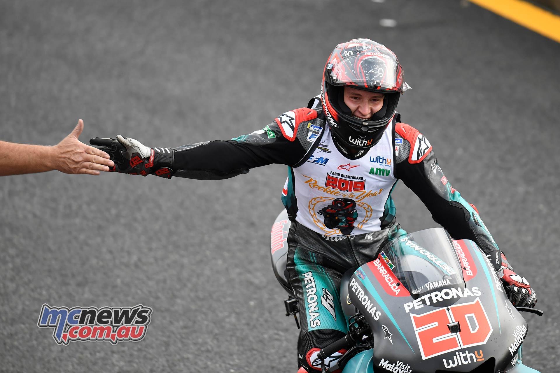 MotoGP Motegi Race Quartararo Rookie