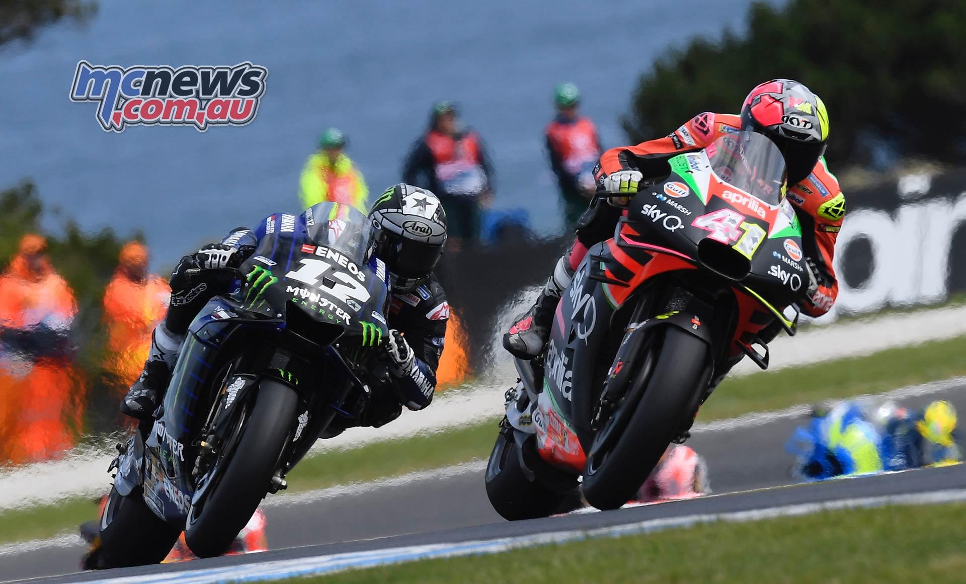 MotoGP Phillip Island Australia Race Aleix Espargaro Maverick Vinales