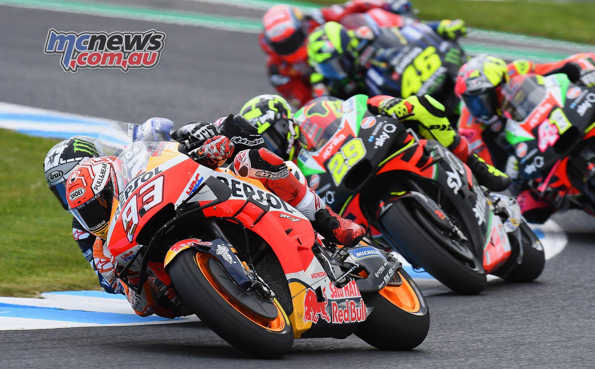 MotoGP Phillip Island Australia Race Marquez Vinales Iannone Espargaro