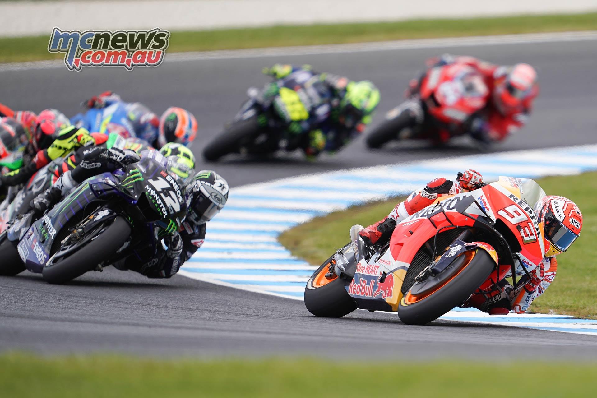 MotoGP Phillip Island Australia Race Marquez Vinales Pack