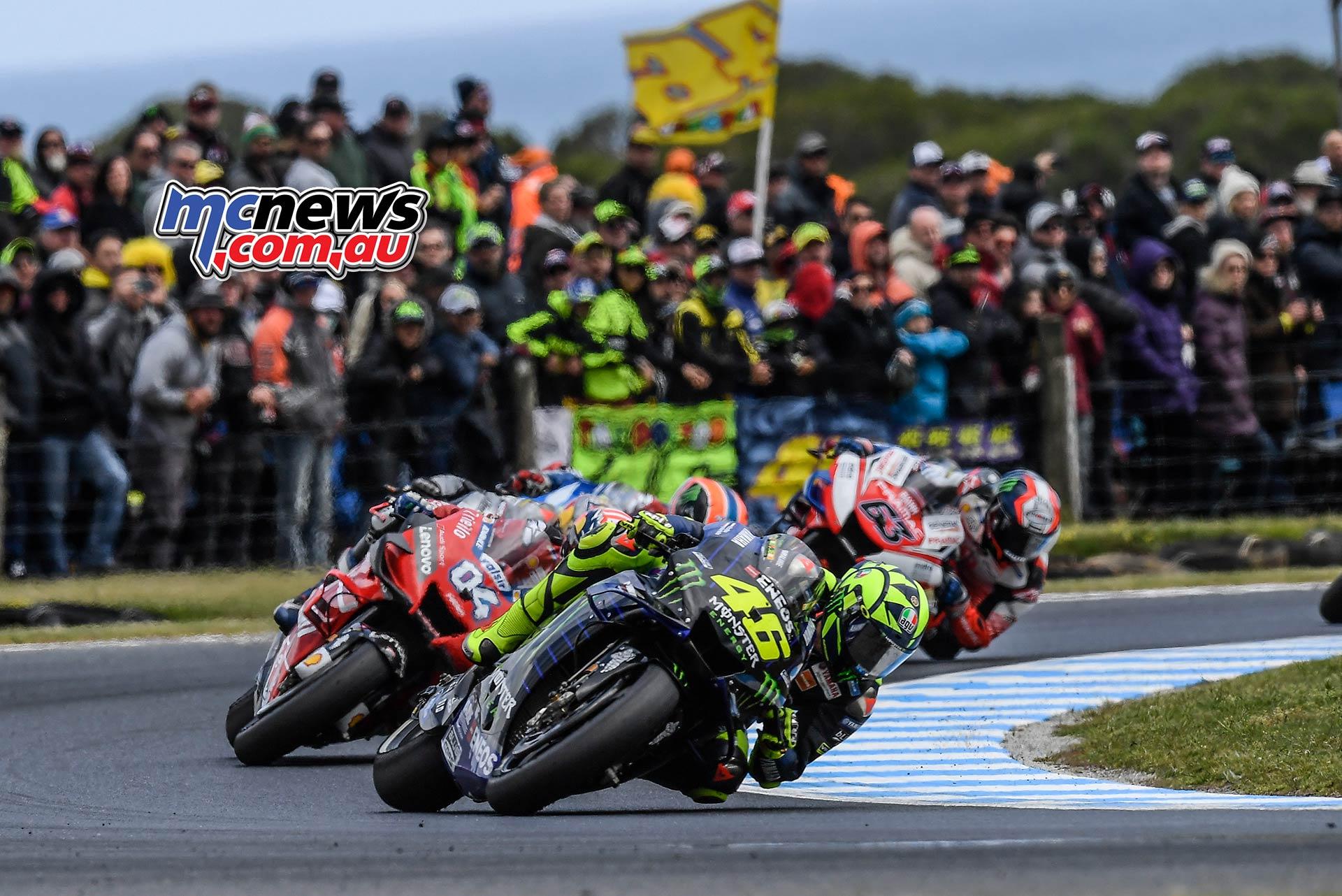 MotoGP Phillip Island Australia Race Rossi Dovi Crowd