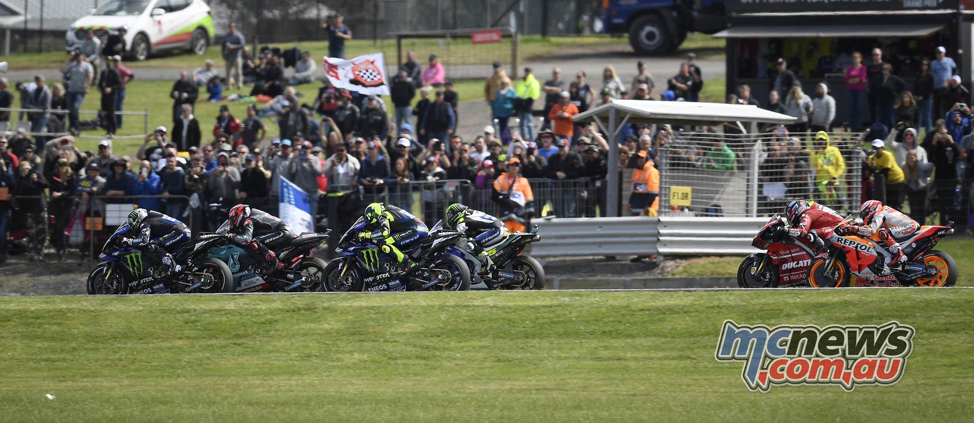 MotoGP Phillip Island Australia Race Start