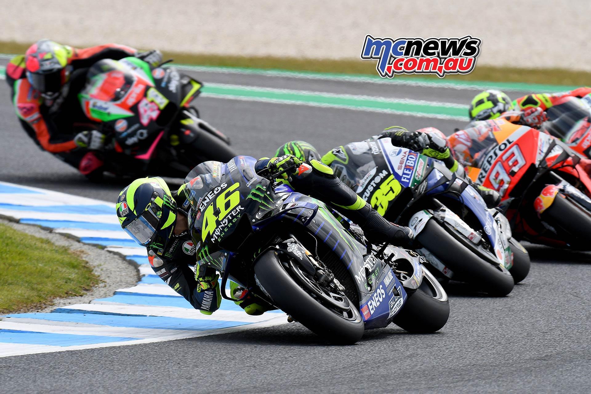 MotoGP Phillip Island Australia Race Start Rossi