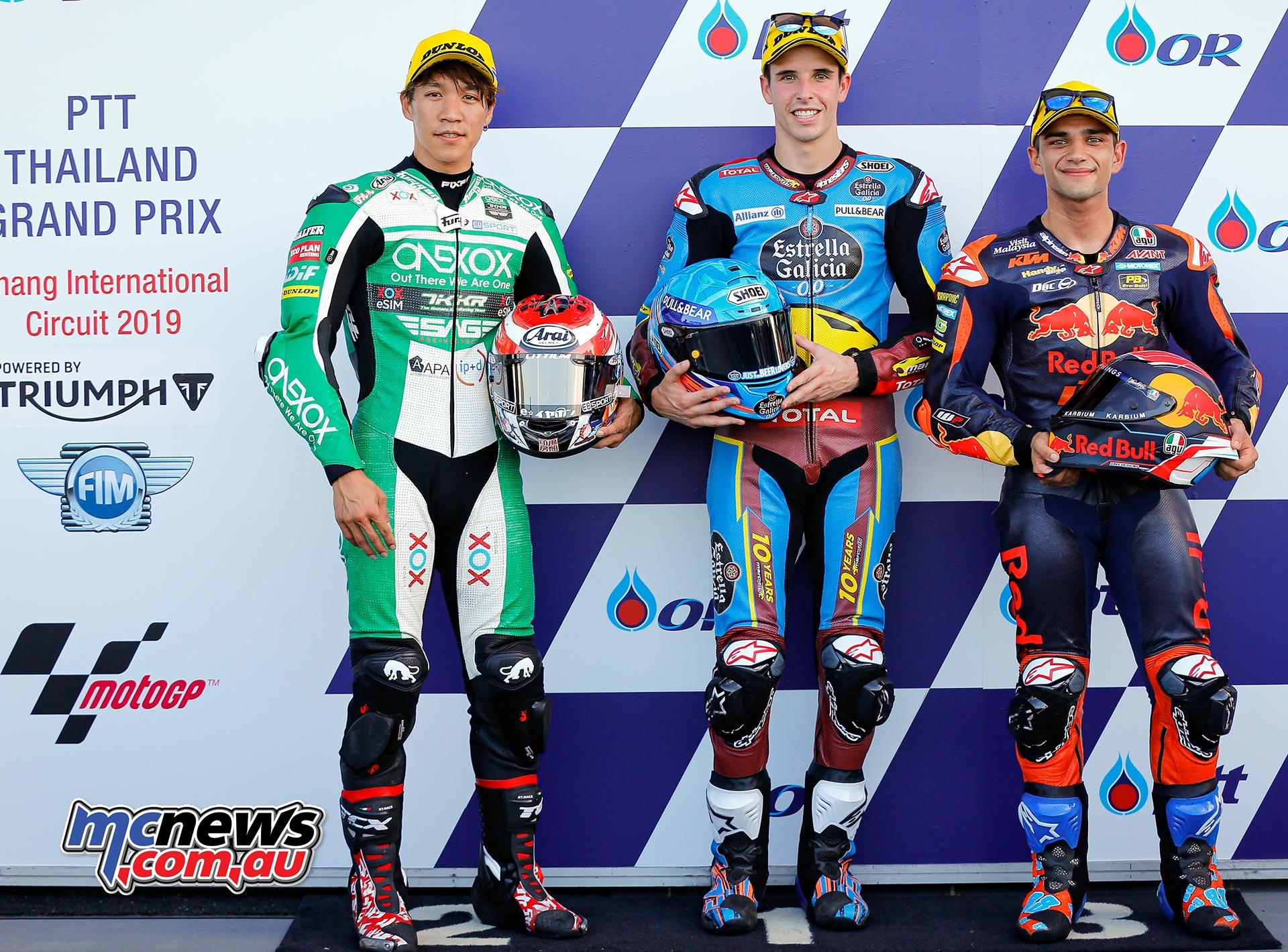 MotoGP Rnd Thailand QP Moto QP Nagashima Marquez Martin