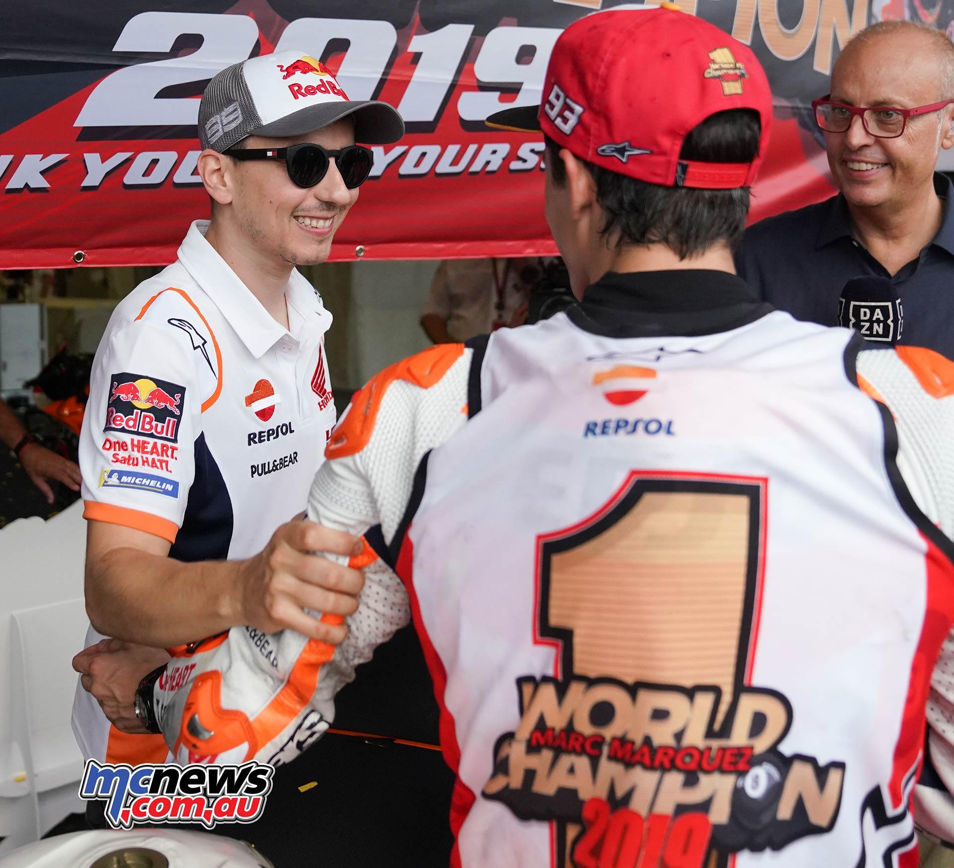 MotoGP Rnd Thailand Race Lorenzo Marquez