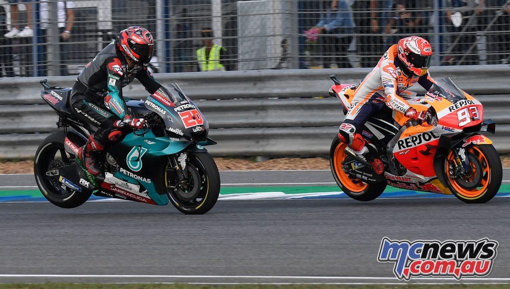 MotoGP Thailand Rnd Sun Marquez Quartararo E Cover