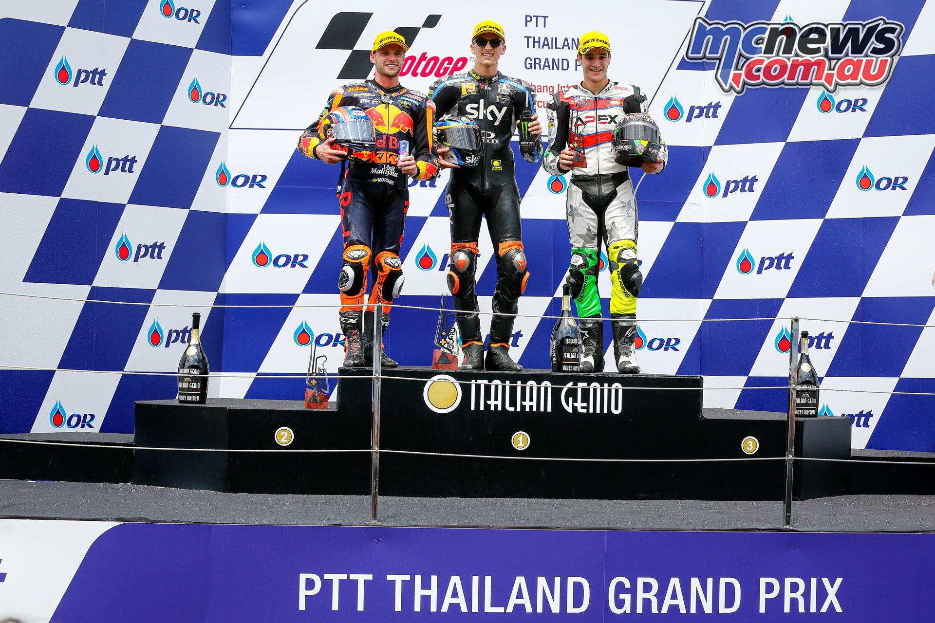 MotoGP Thailand Rnd Sun Moto Podium