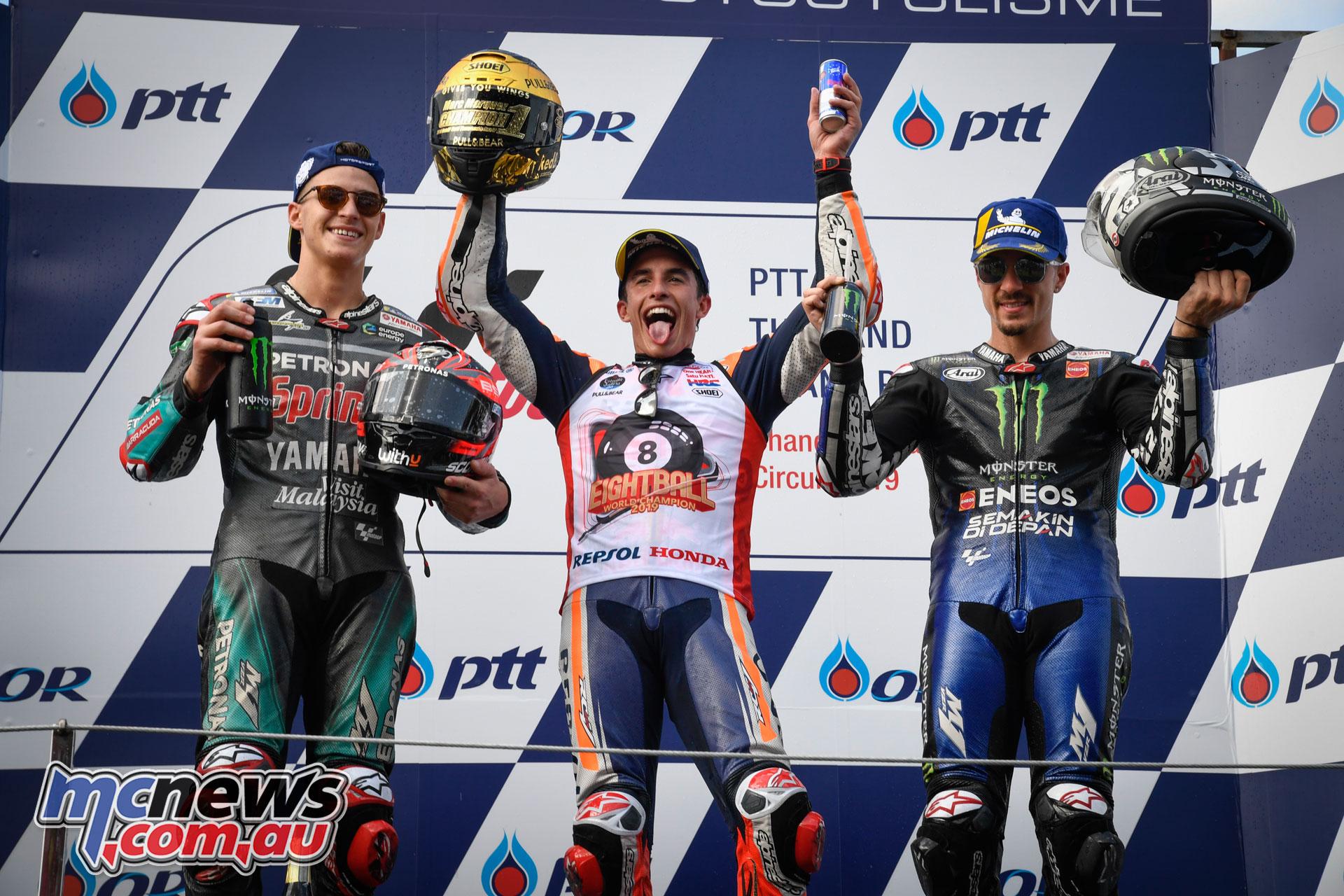 MotoGP Thailand Rnd Sun MotoGP Podium