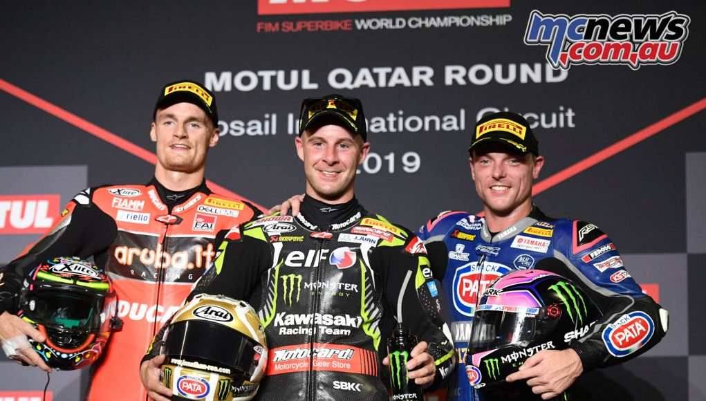 WSBK Rnd Qatar WorldSBK Race podium