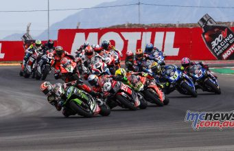 WorldSBK Argentina Day SBK Race Start