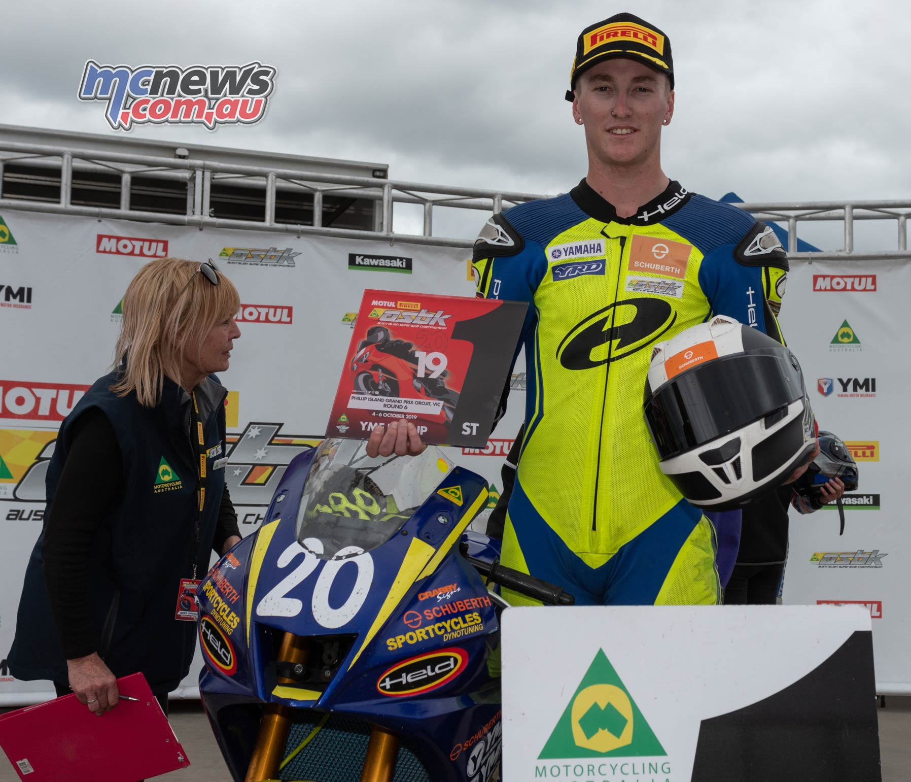 ASBK Rnd Phillip Island RbMotoLens R Cup R Parc Ferme Hunter Ford Sunday
