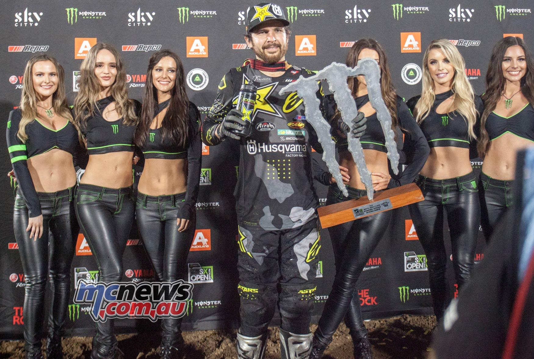Australian Supercross AUS X Auckland ImgeAM AndersonPodiumMonster