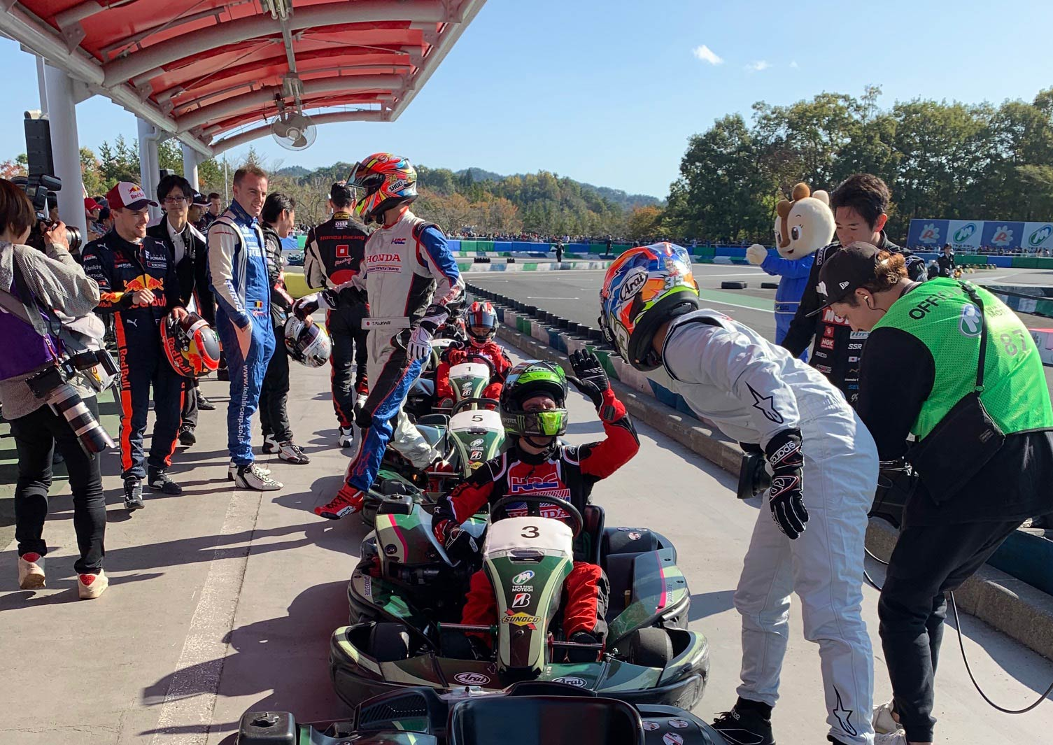 Honda Thanks Day Kart Crutchlow