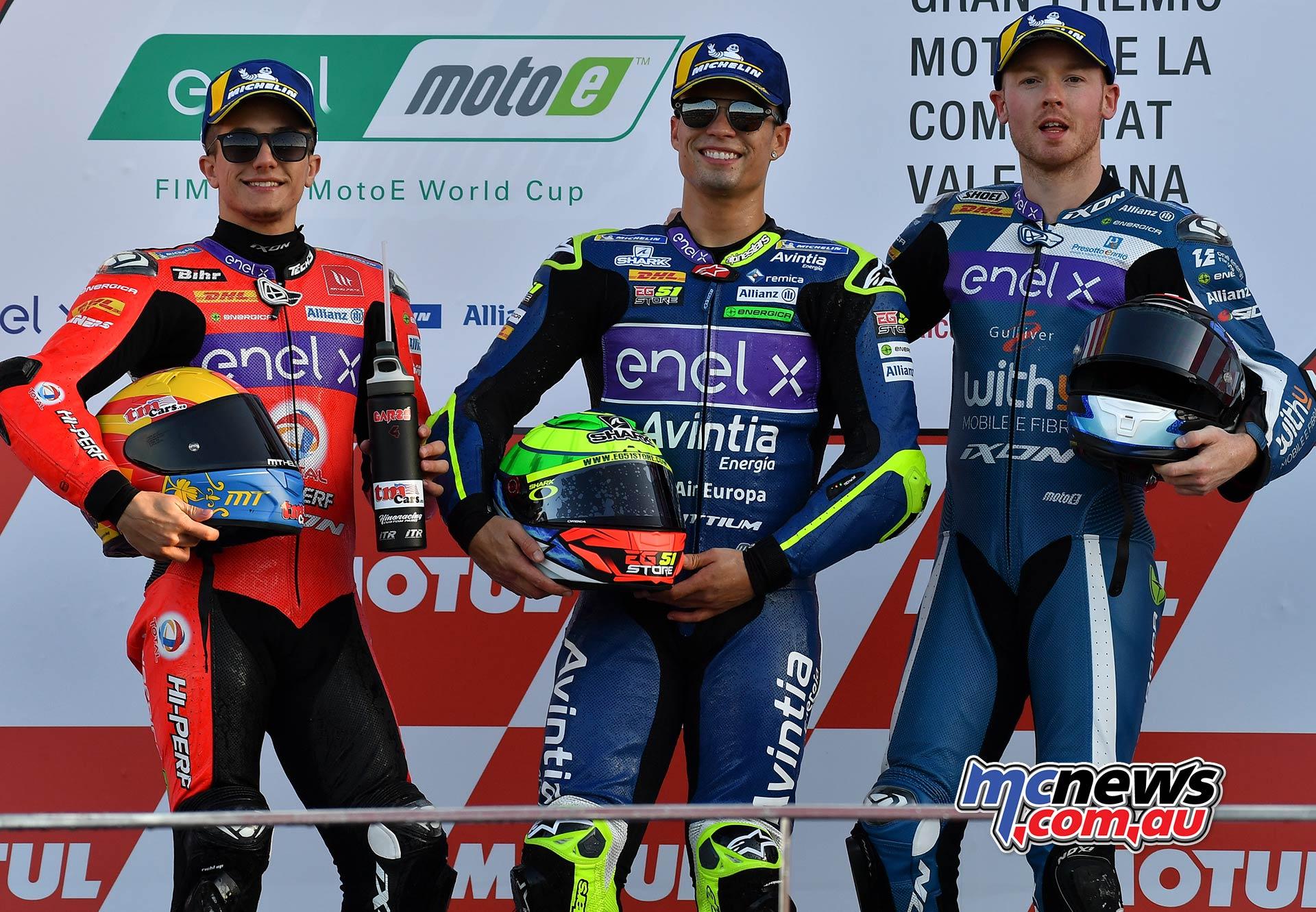 MotoGP Rnd Valencia QP MotoE Garzo Granado Smith