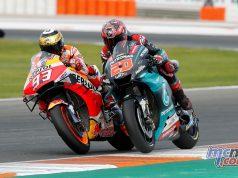 MotoGP Rnd Valencia Race Quartararo Marquez