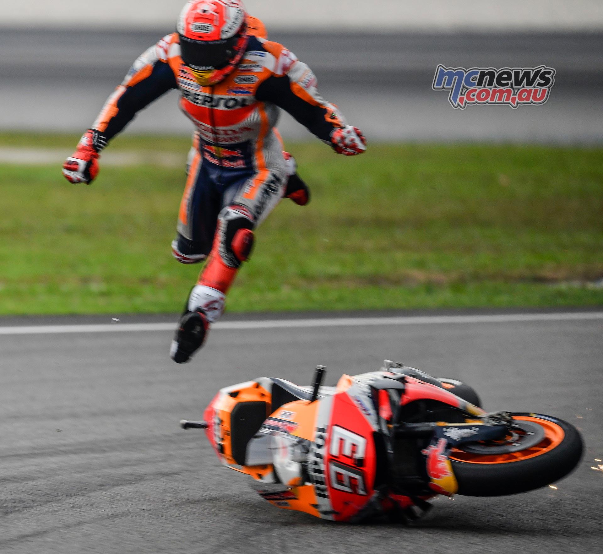 MotoGP Sepang QP Marquez Crash